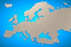 Fondo della mappa di Europa Immagini Stock Libere da Diritti