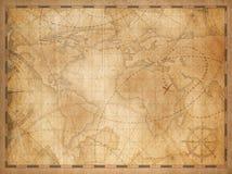 Fondo della mappa di vecchio mondo illustrazione di stock