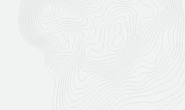 Fondo della mappa topografica con spazio per la copia Allini il fondo di contorno della mappa della topografia, estratto geografi royalty illustrazione gratis