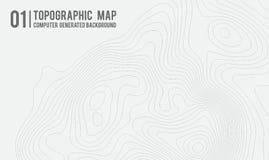 Fondo della mappa topografica con spazio per la copia Allini il fondo di contorno della mappa della topografia, estratto geografi illustrazione vettoriale