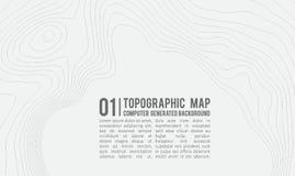 Fondo della mappa topografica con spazio per la copia Allini il fondo di contorno della mappa della topografia, estratto geografi Fotografie Stock Libere da Diritti