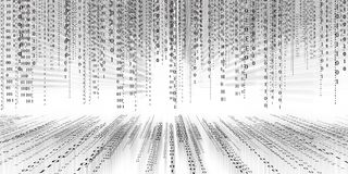 Fondo della matrice di tecnologia di codice binario di dati di Digital, codice binario futuristico di conectivity dell'inondazion illustrazione vettoriale
