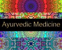 Fondo della medicina di Ayurvedic Fotografia Stock Libera da Diritti