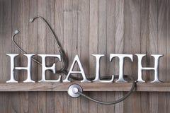 Fondo della medicina di salute dello stetoscopio Fotografie Stock Libere da Diritti