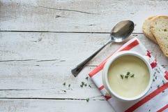 Fondo della minestra di patate Immagini Stock