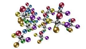 Fondo della molecola, illustrazione Immagini Stock