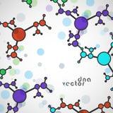 Fondo della molecola, illustrazione variopinta illustrazione di stock