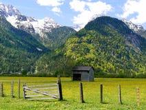 Fondo della montagna delle alpi Fotografia Stock Libera da Diritti