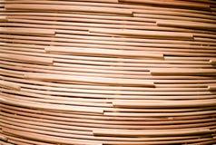 Fondo della natura del surfa marrone del rattan di struttura del tessuto dell'artigianato Immagini Stock Libere da Diritti