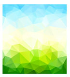 Fondo della natura del triangolo illustrazione vettoriale