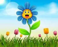 Fondo della natura di estate con l'illustrazione sveglia del fiore royalty illustrazione gratis