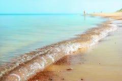 Fondo della natura di vacanza della spiaggia del mare di estate Immagini Stock Libere da Diritti
