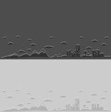 Fondo della natura e della città Illustrazione di Stock