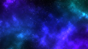 Fondo della nebulosa dello spazio della galassia Fotografia Stock