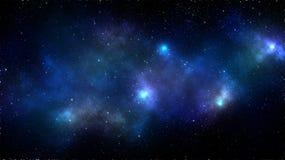 Fondo della nebulosa dello spazio della galassia Fotografie Stock Libere da Diritti