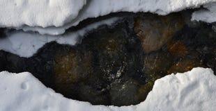 Fondo della neve dell'acqua Fotografia Stock