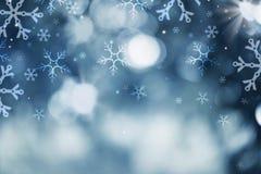 Fondo della neve di festa Fotografia Stock