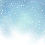 Fondo della neve di giorno di inverno Fotografia Stock Libera da Diritti