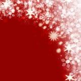 Fondo della neve di Natale Fotografie Stock Libere da Diritti