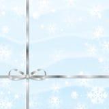 Fondo della neve di Natale e del nuovo anno Fotografia Stock