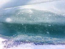 Fondo della neve, fondo congelato Fotografia Stock