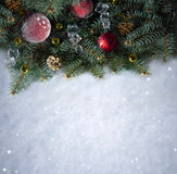 Fondo della neve. Natale Fotografia Stock