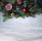 Fondo della neve. Natale Fotografia Stock Libera da Diritti