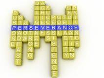 fondo della nuvola di parola di concetto di perseveranza di imagen 3d Immagini Stock