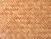 Fondo della paglia, struttura del tessuto di bambù del canestro Fotografia Stock Libera da Diritti