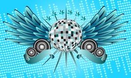 Fondo della palla della discoteca Fotografia Stock