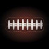 Fondo della palla di football americano Vettore Fotografia Stock