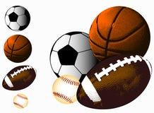 Fondo della palla di sport Fotografie Stock Libere da Diritti