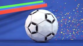 Fondo della palla di sport Fotografia Stock Libera da Diritti