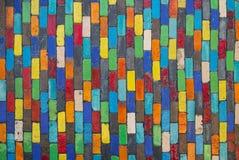 Fondo della parete ceramica variopinta con forma quadrata Immagini Stock Libere da Diritti