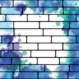 Fondo della parete dei graffiti, arte urbana Fotografia Stock