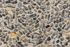 Fondo della parete del ciottolo del fiume Fotografia Stock