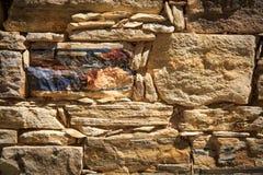 Fondo della parete del lavoro in pietra Fotografia Stock