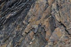 Fondo della parete della roccia dell'ardesia Fotografia Stock Libera da Diritti