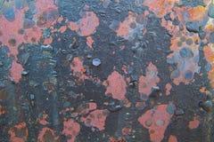 Fondo della parete della ruggine variopinto Fotografia Stock Libera da Diritti