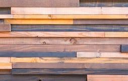 Fondo della parete di legno di progettazione moderna fotografia stock libera da diritti