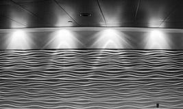 Fondo della parete di luce e di ombre Immagini Stock