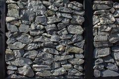 Fondo della parete di pietra bianca Fotografia Stock
