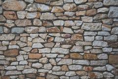 Fondo della parete di pietra con effetto opaco del film Fotografia Stock Libera da Diritti