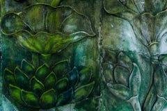 Fondo della parete di pietra 1 del modello di fiore Fotografia Stock