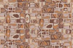 Fondo della parete di pietra senza cuciture illustrazione vettoriale