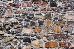 Fondo della parete di pietre Fotografia Stock