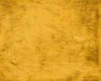 Fondo della parete dipinto giallo d'annata del gesso Fotografie Stock Libere da Diritti