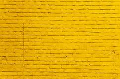 Fondo della parete dipinto giallo d'annata del gesso Fotografia Stock
