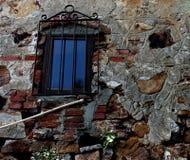 Fondo della parete e della finestra Fotografia Stock
