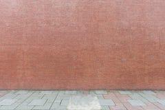 Fondo della parete della via, parete di mattonelle di ceramica delle mattonelle del bakcground industriale, muro di mattoni senza fotografia stock libera da diritti